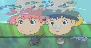 PONYO Noah Cyrus and Frankie Jonas lend their voices as new-found friends in PONYO, the latest movie from the Academy Award®-winning director and animation legend Hayao Miyazaki. PONYO comes to U.S. theaters on Aug. 14, 2009. © 2009 Nibariki-GNDHDDT© 2008 Nibariki-GNDHDDT